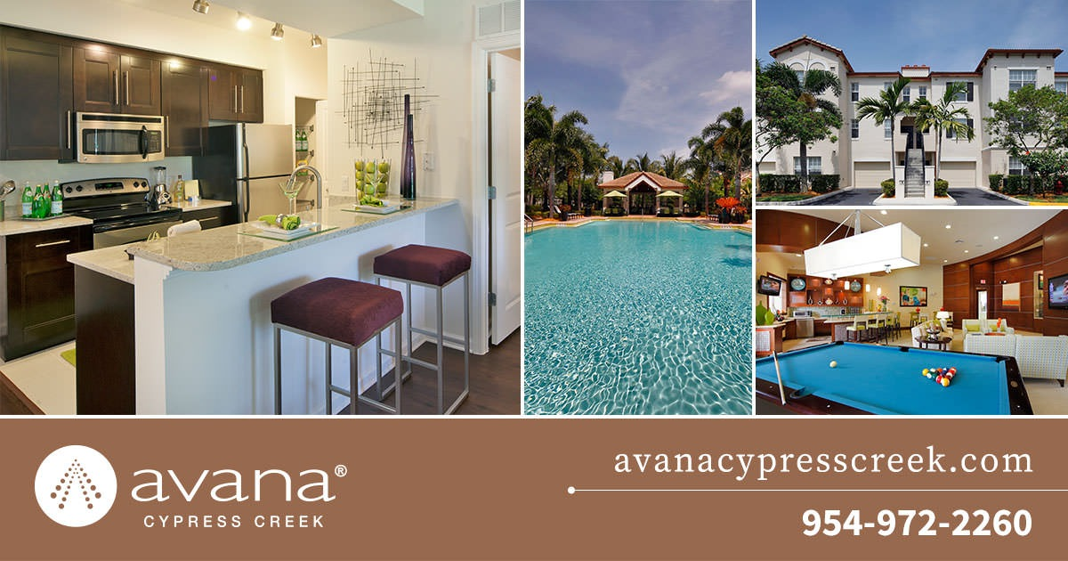 Pet Friendly Apartments Avana Cypress Creek In North Lauderdale